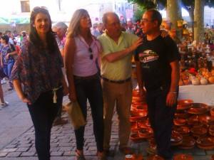 Ciudadanos concejala en inauguración Feria Cerámica (25-06-2015)