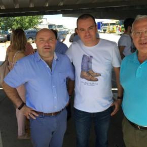 C's Zamora con los transportistas en la celebración de su patrón, San Cristóbal
