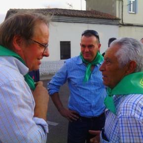 Requejo y Merchán en la inauguración de las fiestas de Pinilla