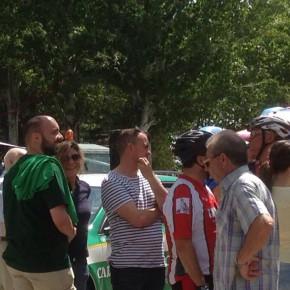 Ciudadanos en el pedaleo solidario de Caja Rural a favor del banco de alimentos