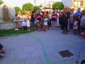 Ciudadanos concejala en pregón de San Frontis (20-8-2015)
