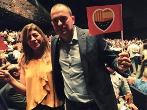 Ciudadanos concejales Ayuntamiento Zamora en acto central campaña Barcelona (20-09-2015)