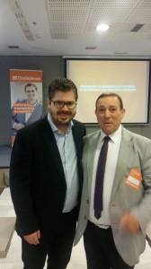 Ciudadanos Zamora (Antonio Requejo con Fran Hervías en convención candidatos Madrid) 18-10-2015