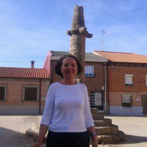 La alcaldesa de Cs de Matilla de Arzón anuncia la restauración del 'rollo de la justicia' de la localidad para el próximo año